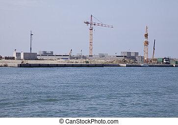 eau, site construction