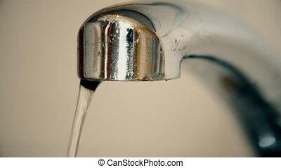 eau, sombrer, robinet, vieux, tomber, gouttes