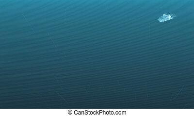 eau, sous-marin, lumineux, sous