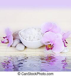 eau, spa, vie, encore, reflet