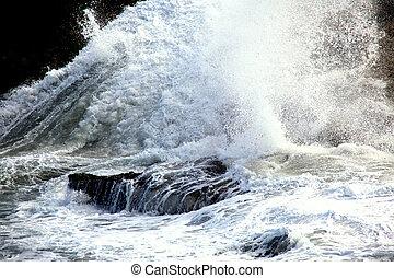 eau, splash.