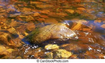 eau, stone., écoulement