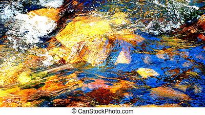 eau, stream., dépêcher