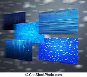 eau, textures
