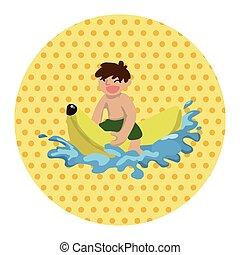 eau, thème, éléments, sports
