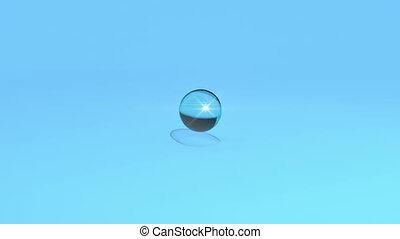 eau, tomber, goutte, bleu