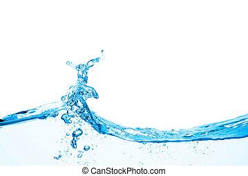 eau, vague