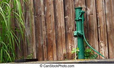 eau, vendange, style, pompe
