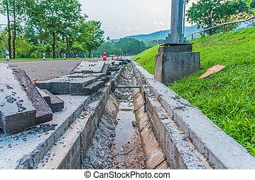 eaux égout, road., drainage