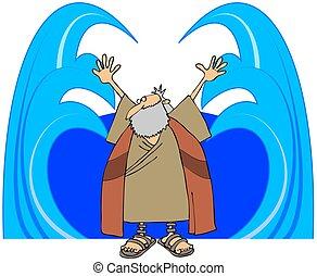 eaux, moïse, séparation