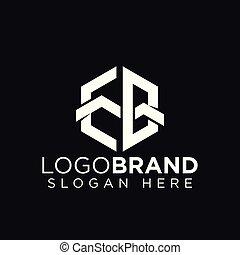EB Initial Letter Mountain Logo vector