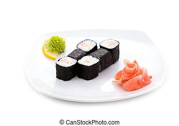 Ebi hosomaki - Image of ebi hosomaki sushi with pickled ...