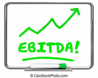 EBITDA Earnings Accounting Profit Revenue Erase Board 3d...
