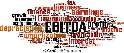 EBITDA-horizon.eps - EBITDA word cloud concept. Vector...