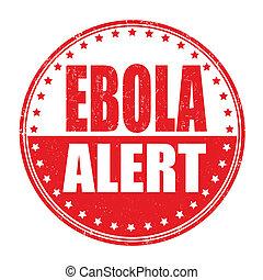 ebola, 切手,  allert