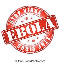 ebola, abbahagy, vírus, stamp.