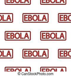 ebola, bélyeg, seamless, motívum