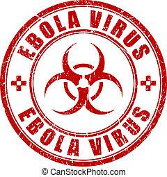 ebola, bélyeg,  vírus