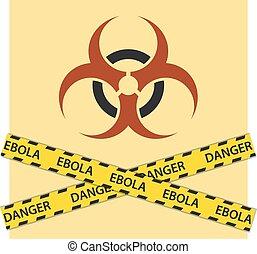 ebola, biohazard δηλοποίηση , σήμα