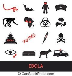 ebola, dát,  eps10, Nemoc, Ikona