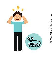 ebola design  - ebola graphic design , vector illustration