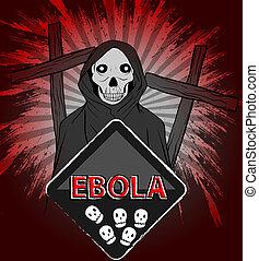 Ebola grim reaper concept