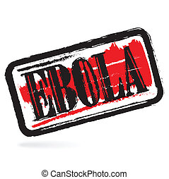 Ebola grunge rubber stamp on white background