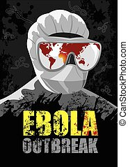 EBOLA Outbreak - Showing the world map where the virus began...
