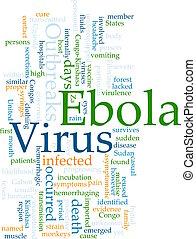 ebola, palabra, nube
