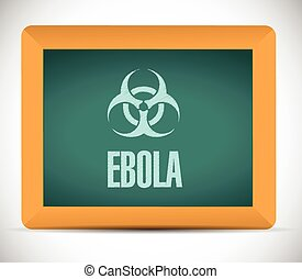 ebola sign on a board illustration
