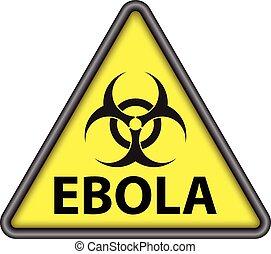 Ebola triangle signal vector
