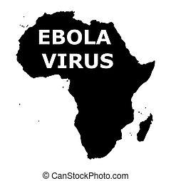 ebola, virus, áfrica