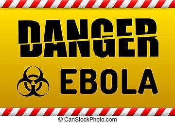 Ebola virus danger sign with reflect. - Ebola Biohazard ...