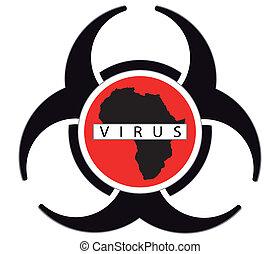 ebola virus sign isolated on white background,vactor...