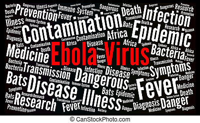 Ebola virus word cloud concept illustration