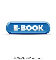 Ebook button blue vector