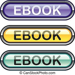 Ebook Button download look Glossy