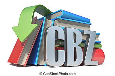 eBook CBZ download concept 3D