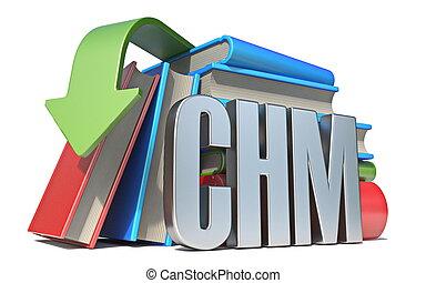 eBook CHM download concept 3D