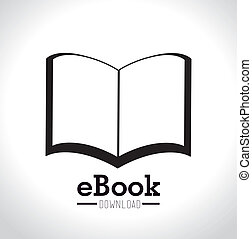 eBook design - eBook design over white background, vector...