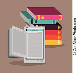 Ebook design - Education concept about the using of the ...