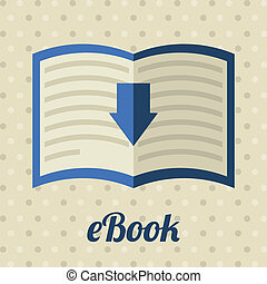 ebook design over dotted background vector illustration