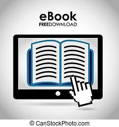 ebook design , vector illustration