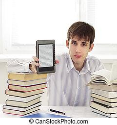 ebook, estudiante, lector