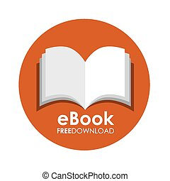 ebook icon design, vector illustration eps10 graphic