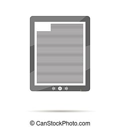eBook icon flat