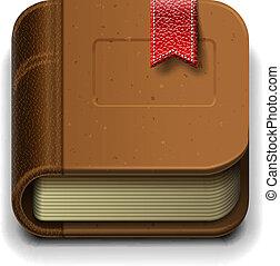 Ebook icon, vector Eps10 illustration.