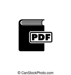 Ebook. PDF Book Flat Vector Icon