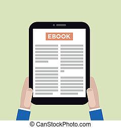 ebook, tableta