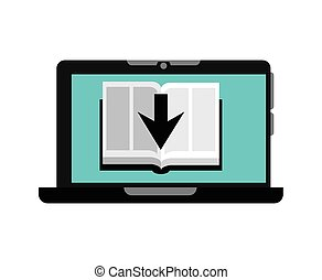 ebook technology design, vector illustration eps10 graphic